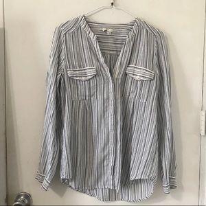 Joie Striped button down blouse